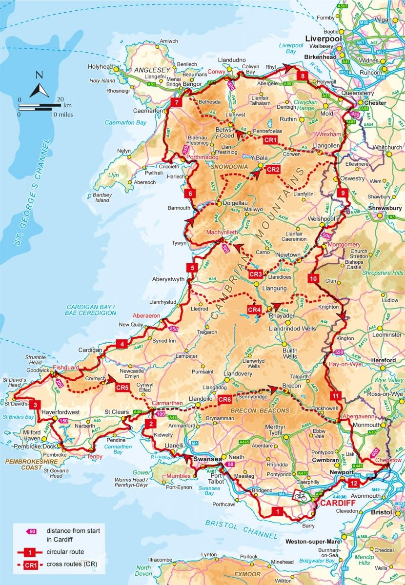 Fietsgids - Cycle touring in Wales (9781852849887) Cicerone Press