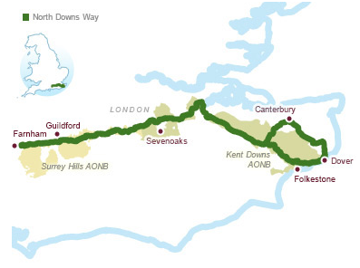 North Downs Way - Map Booklet (9781852849559) Cicerone