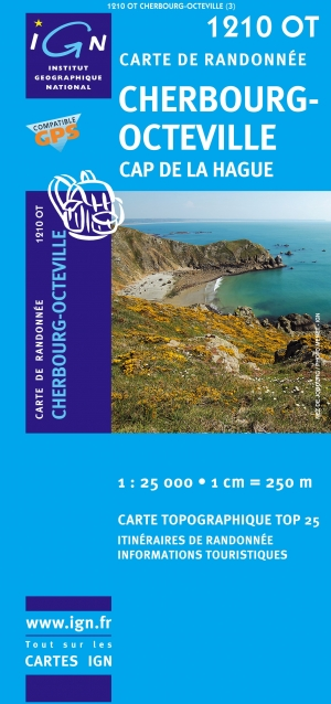 Wandelkaart IGN TOP25 et Série Bleue nr.1210 OT - Cherbourg-Octeville & Cap de la Hague, Bass-Normandie France (9782758525790) IGN